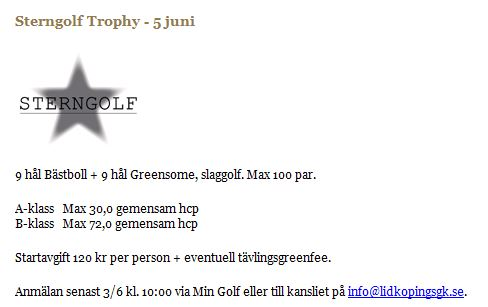 Sterngolf Trophy